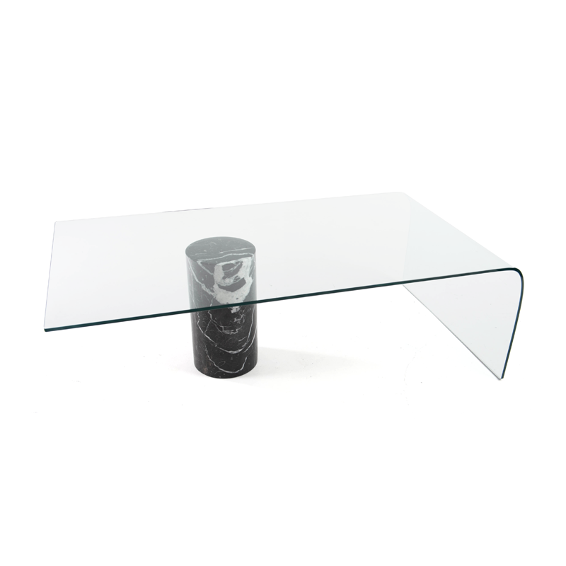 Black Marble And Glass Coffee Table Istage Homes