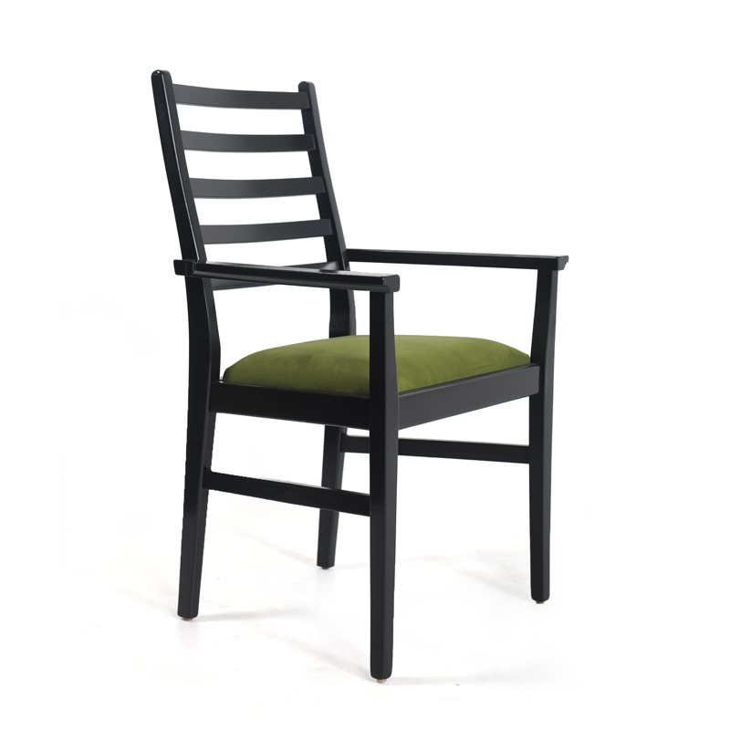 Black Lacquer Green Dining Chairs 4