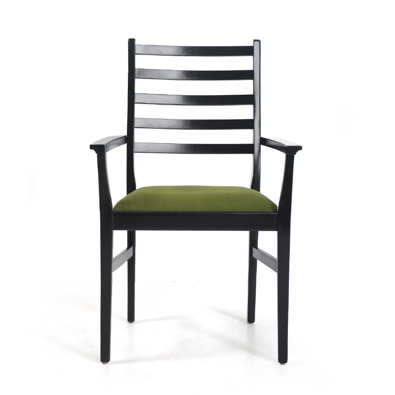 Black Lacquer Green Dining Chairs 5