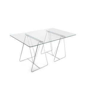 chrome-glass-dining-table