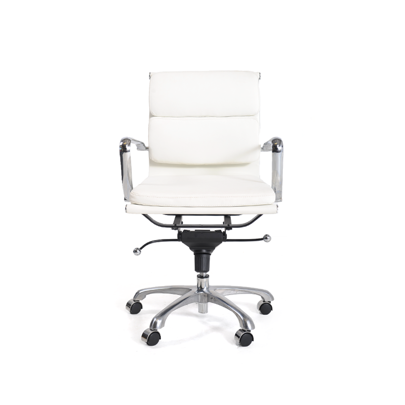 White Leather Computer Chair 3 ...