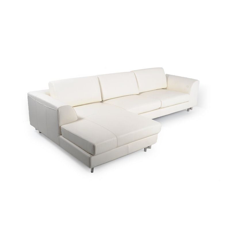 White leather sectional iStage Homes