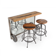 industrial-bar-coffee-table-barstools