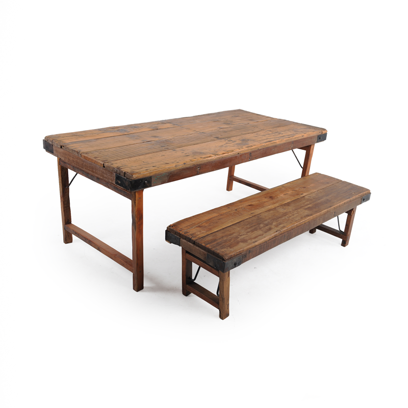 Rustic Picnic Table And Benches Istage Homes
