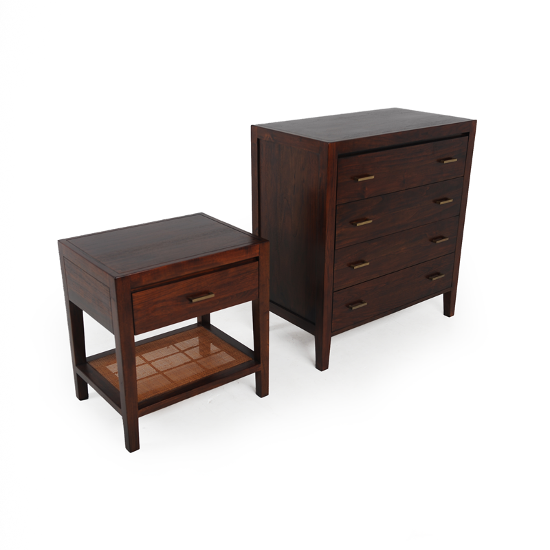 Walnut Dresser and Nightstand iStage Homes