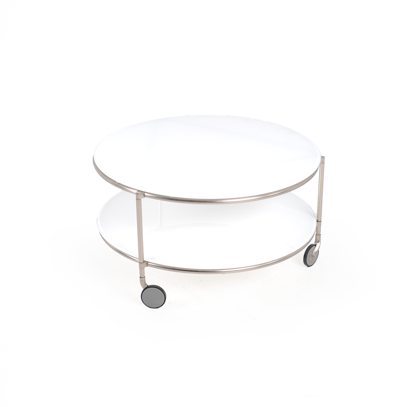 White Circle Coffee Table iStage Homes