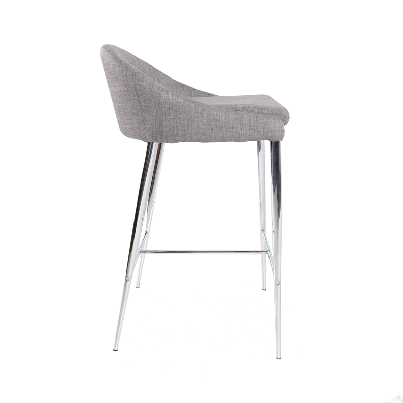 Bar Stools Counter Height Grey Fabric Istage Homes