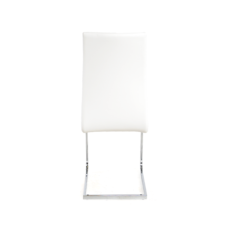 Dining chairs white high back leather istage homes for White leather high back dining chairs